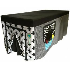 Tischzelt Schwarz-Weiß-Erle (Tischgröße größer 2,5m)