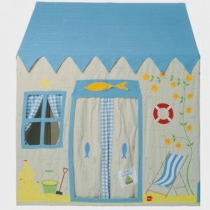 Win Green Beach House Playhouse (Groß) + Floor Quilt