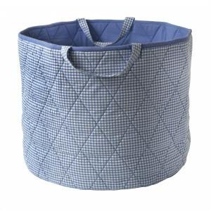 Gingham Toy Basket (Beige) - Kiddiewinkles (BEIGEGTB)