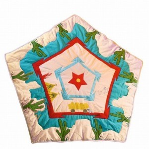 Wigwam Cowboy Floor Quilt