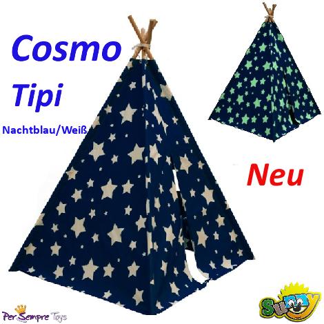 Cosmo Tipi (Nachtblau/Weiß) - Sunny (C052.102.01)